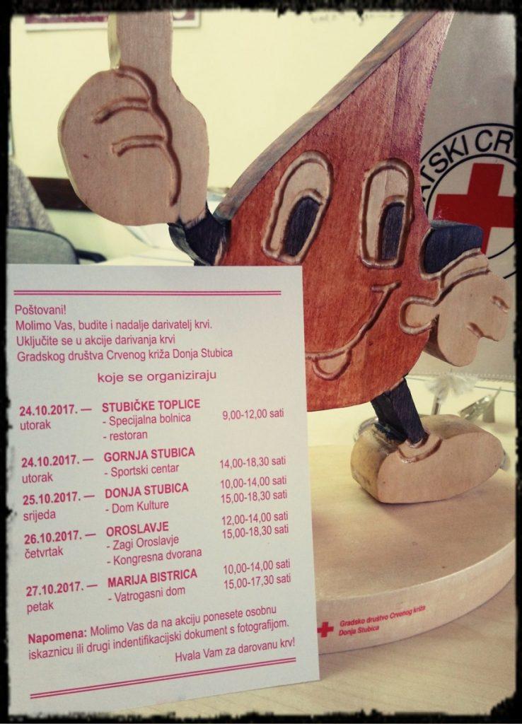 Dobrovoljno darivanje krvi-listopad 2017.-GDCK D.Stubica
