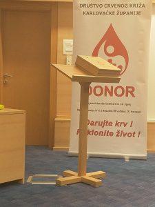 """Prezentacija knjige """"Darivatelji krvi 100+"""" Društva Crvenog križa Karlovačke županije"""