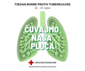 """""""Čuvajmo naša pluća"""" – Tjedan borbe protiv tuberkuloze 14. – 21. rujna"""